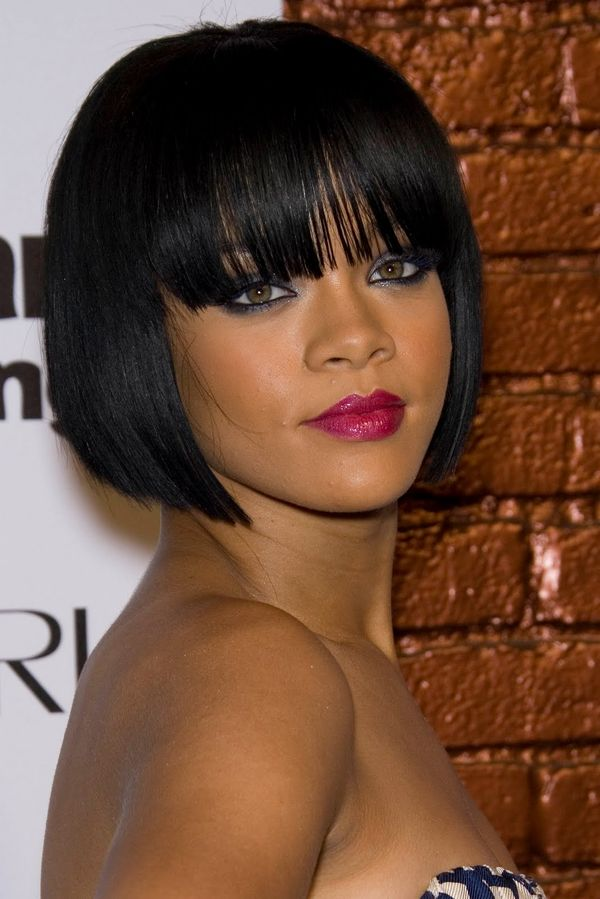 Black women short hairstyles with bangs 4