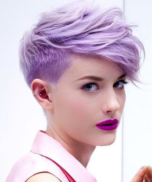Cool Short Pixie Cut with Shaved Sides 4