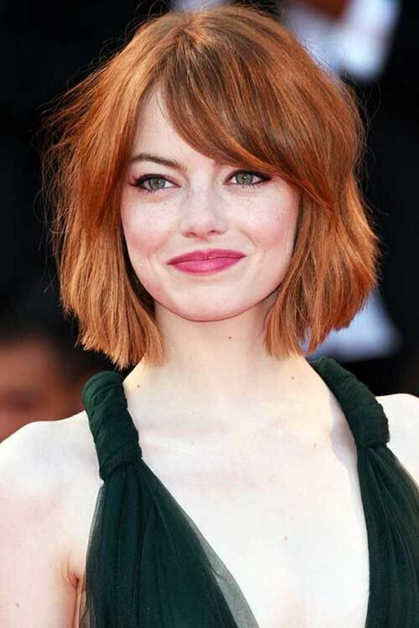 Medium to Short Hairstyles with Bangs 4