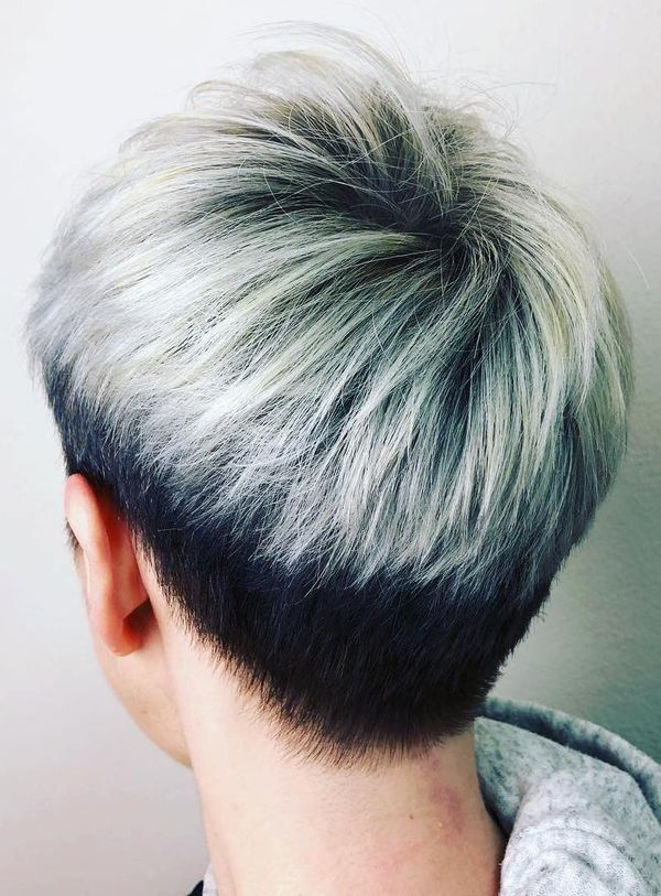 Short Silver Pixie Cuts 1