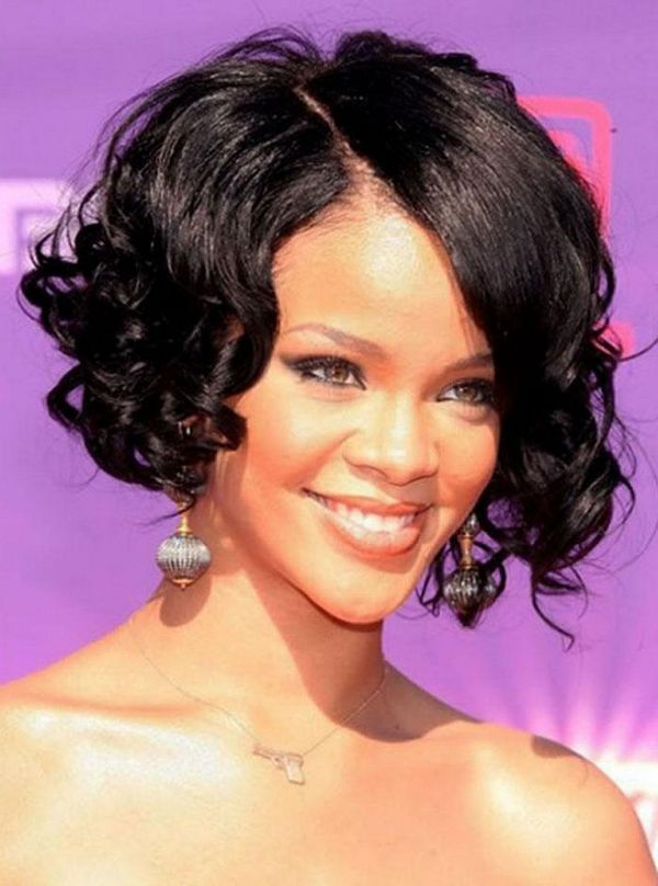 Short wavy hairstyles for African American women 1
