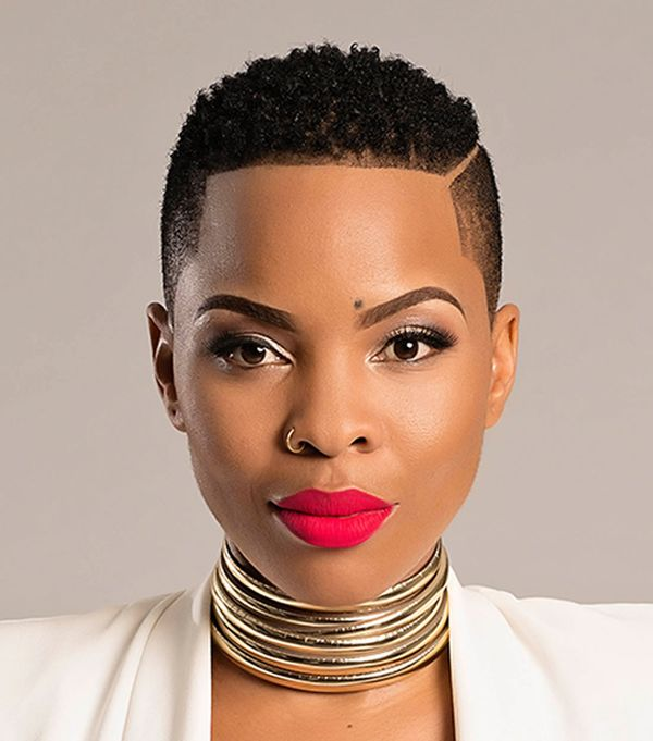Very short haircuts for black women with round faces 1