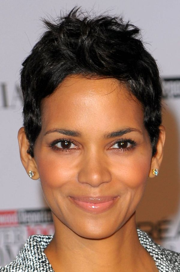 Very short haircuts for black women with round faces 3
