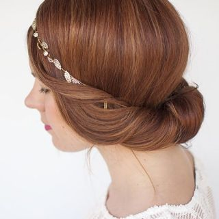 Brow ngreek updo hairstyle