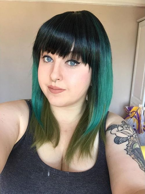 Incredible green ombre