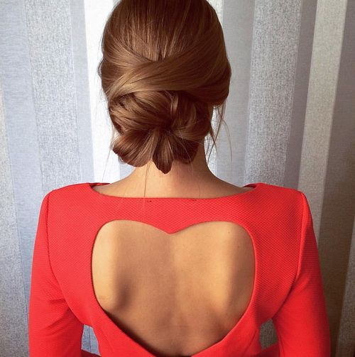Lovely bun updo hairstyle
