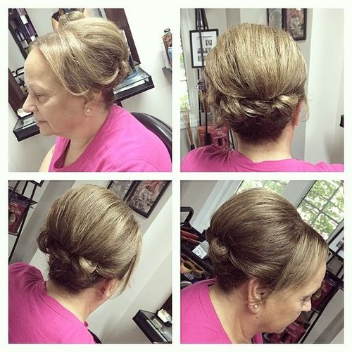 Updos for Mother of the Bride Medium Length Hair