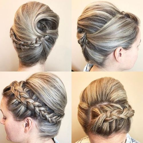 60 easy updos for medium length hair updos with braids for medium length hair solutioingenieria Image collections