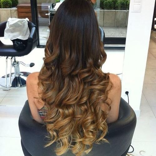 Long hair with light brown ombre