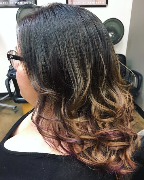 Delicate purple ombre