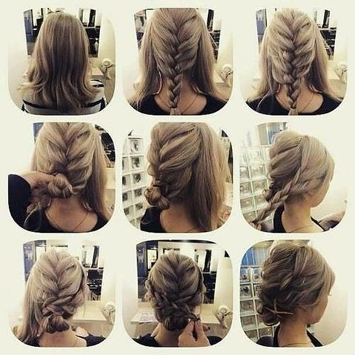 DIY Updos For Medium Hair. French Braid Hairstyle