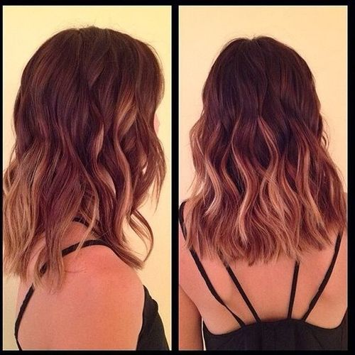 Brown and blond ombre