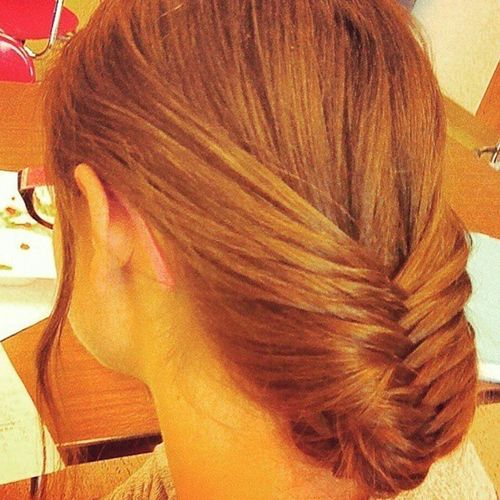 Fine fishtail hairstyle