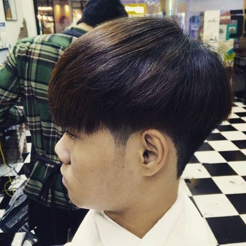 Asian Hairstyle with Rounded Shape