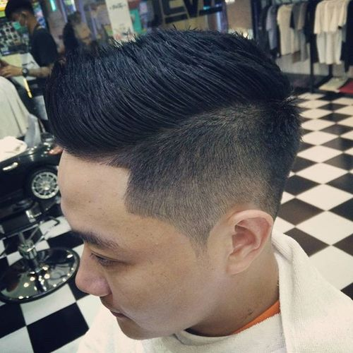 Faux Hawk Hairstyle for Asian Men