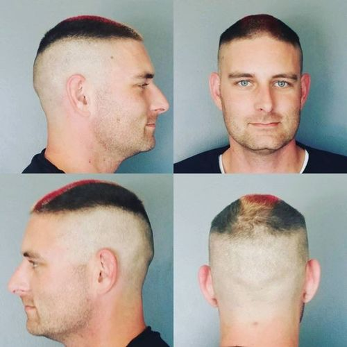 Dyed High and Tight Hairstyle