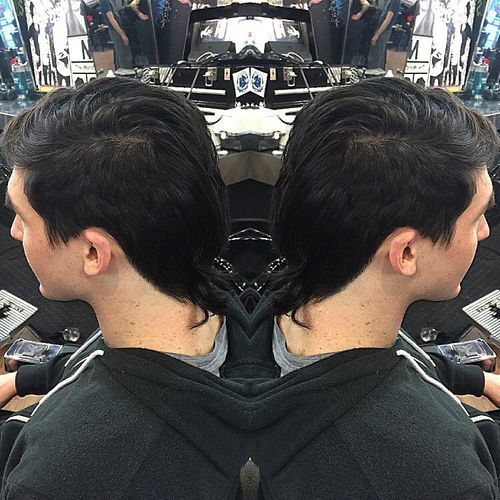 Long Feathered Mullet Hair 2