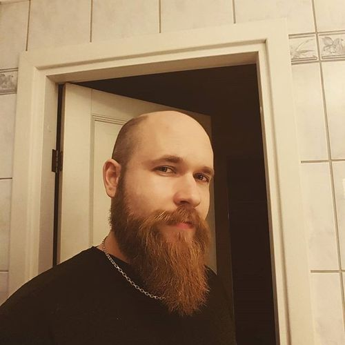 Bald Head & Long Beard Contrast