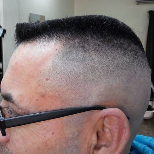 Extremely Short Military Haircut 1