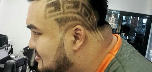 Crazy Hawk Hairstyle with Design for Asian Men