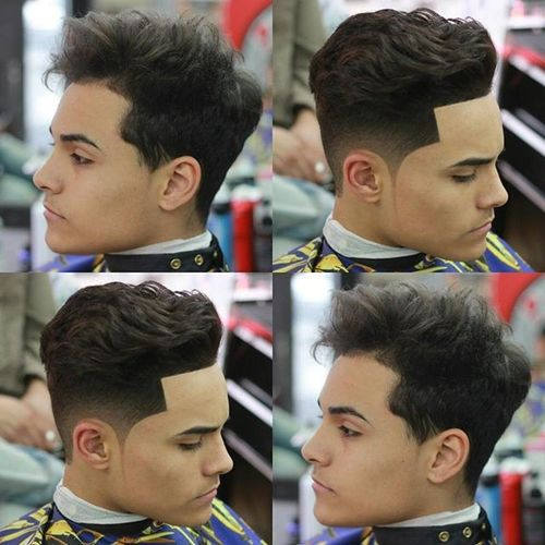 Wavy Cut with Sharp Hairline