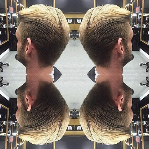 Flowing Tapered Hairstyle
