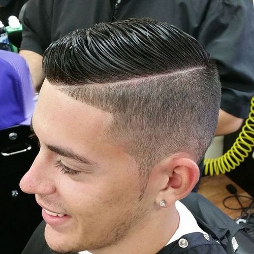 Good Taper Fade With A Part