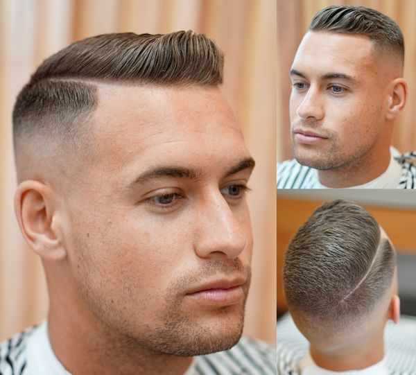 Crew Cut Haircuts with Side Part 1