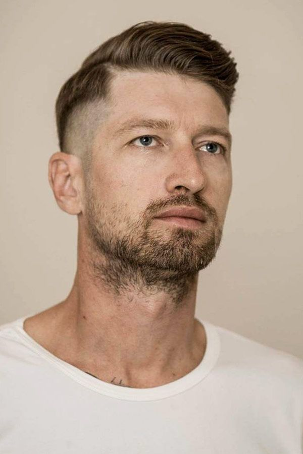 GoodLooking Side Swept Crew Cut Hairstyle 3