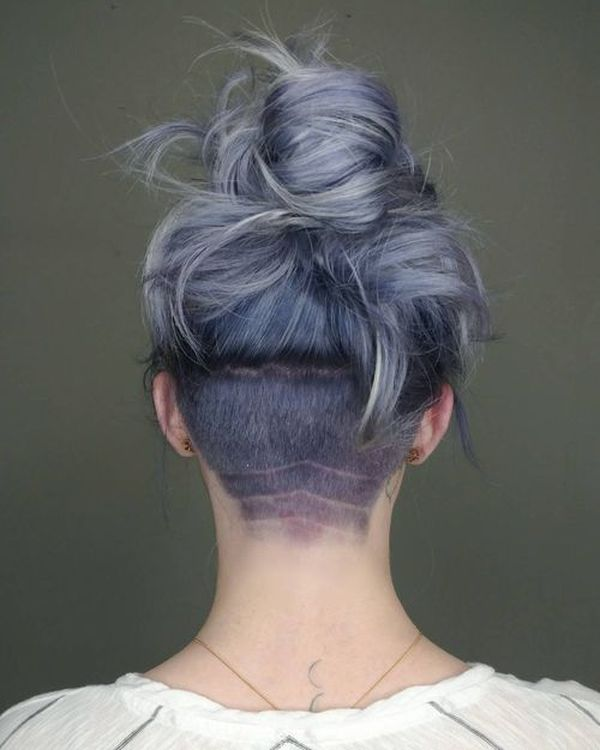 Cute female undercut hairstyles for long hair 3