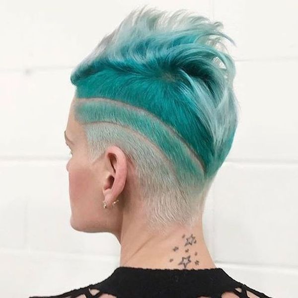 Dyed undercut for bright ladies 3