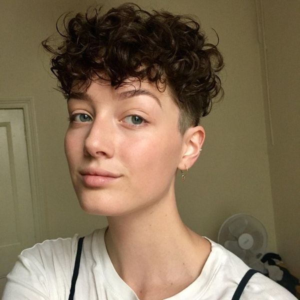 Ideas of undercut on curly hair for females 3