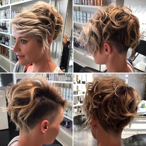 Messy womens undercut hairstyles 1