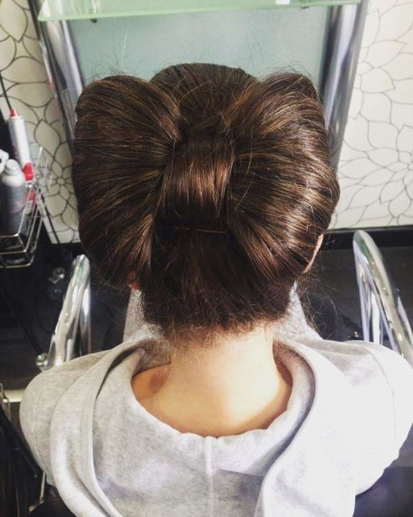 The bow-knot hairstyle