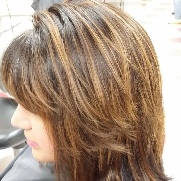 Separate glossy strands
