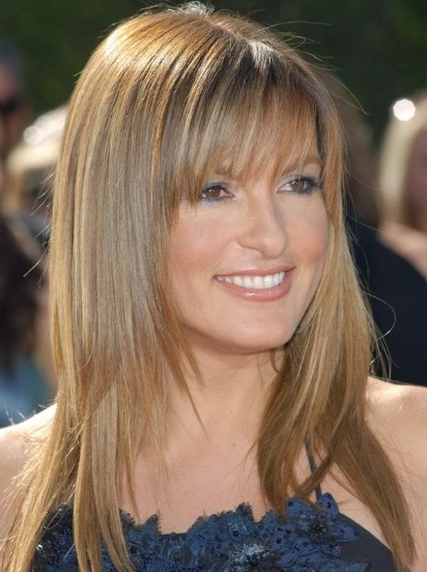 thin hair fringe styles layered haircuts with bangs layered hair in 2018 6491