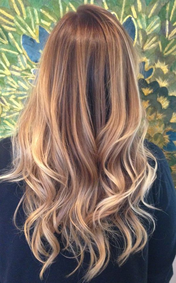 The dimensional blonde highlights on the Light Golden Brown