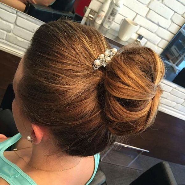 High Volume Bun with Glamourous Jewelry