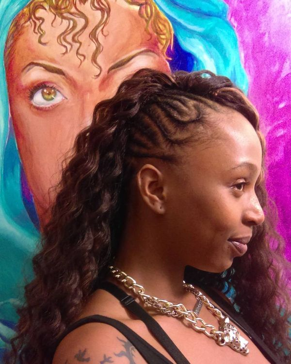 Tender Crochet Coils with Cornrowed Side