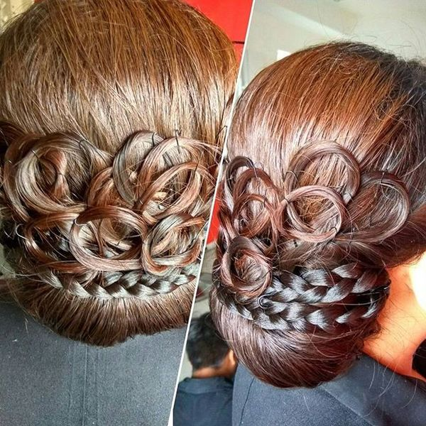 Artistic Wedding Updo Hairstyle