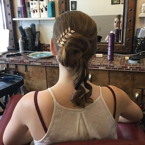 Classical prom updo