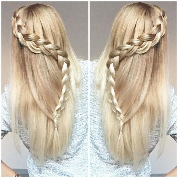 Loose serpentine braiding