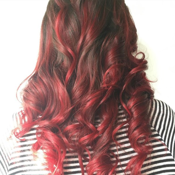 Red tresses creativity