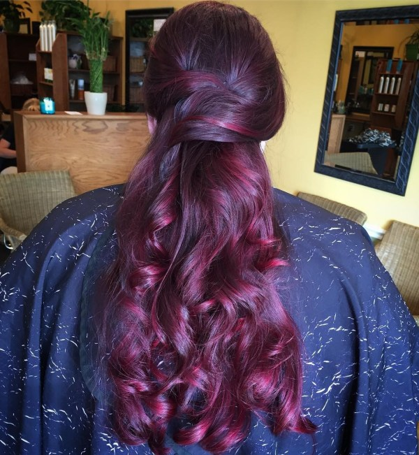 Violet Highlights In Black Hair Picture Gallery