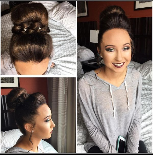 Sleek prom updo