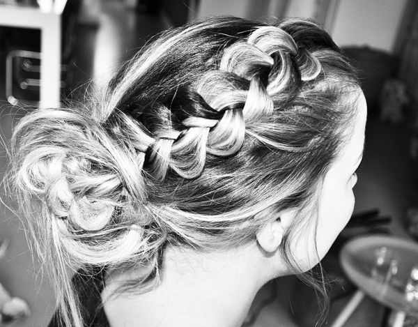 Solemn prom updo