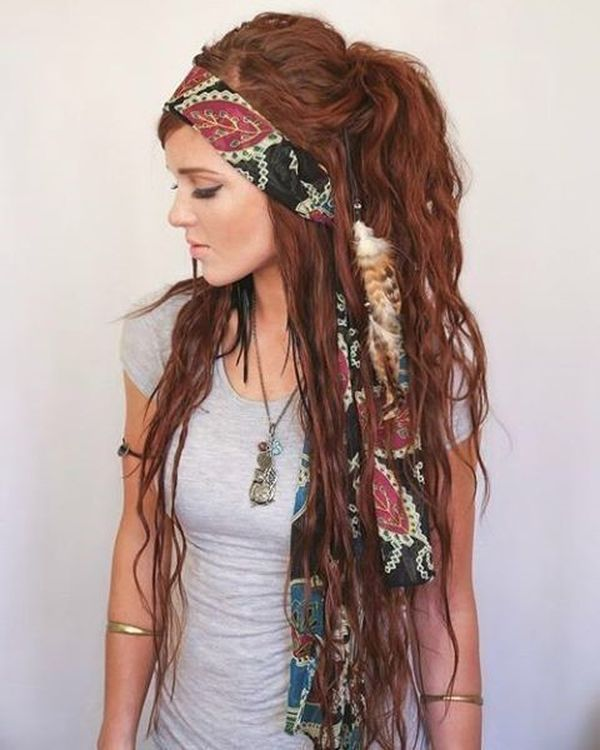 Messy Boho Hairstyles for Long Hair 6