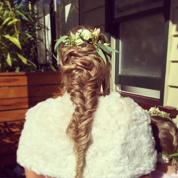 Spring freshness on hair