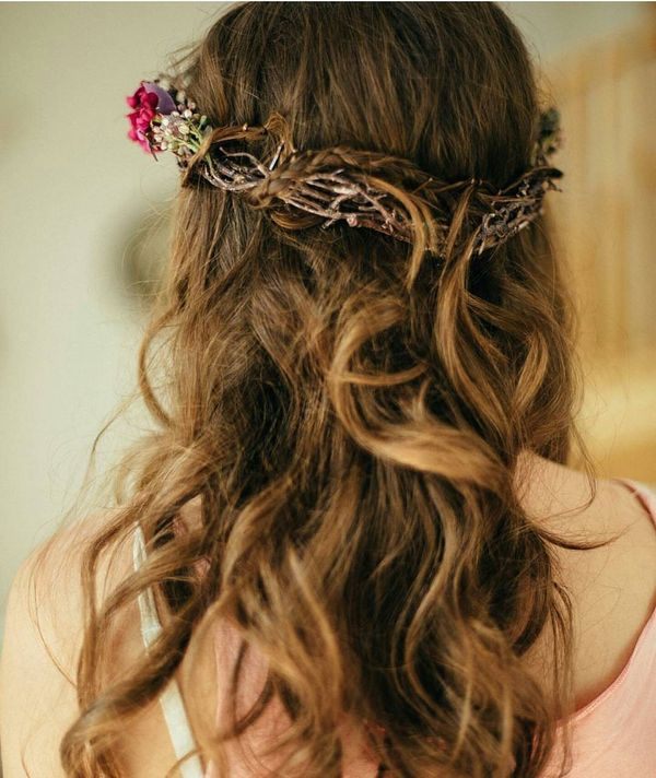 Unusual Boho hairdo