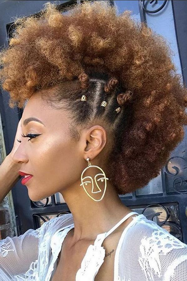 mohawk hairstyle ideas black